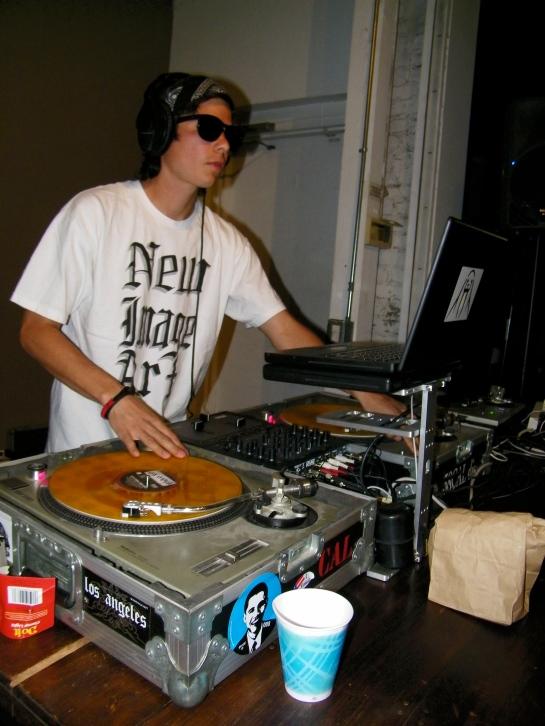 DJ Alf Alpha at Constant Elevation Art Show