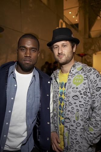 Kanye West and Sam Spiegel at The Flux Film Screening