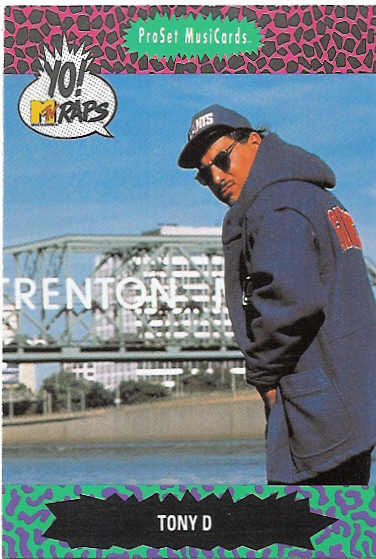 Tony D Yo MTV Raps Card