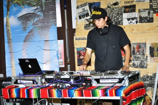 Dj Alf Alpha @ The Coachella Valley Art Scene - Something from Nothing Event