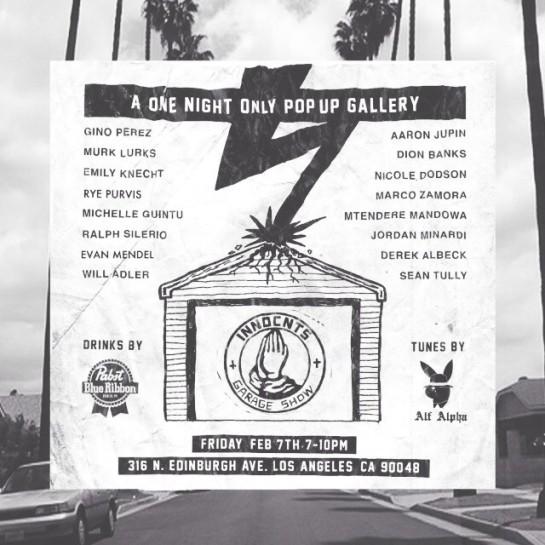 Innocnts Pop Up Gallery Los Angeles, Feb 7th