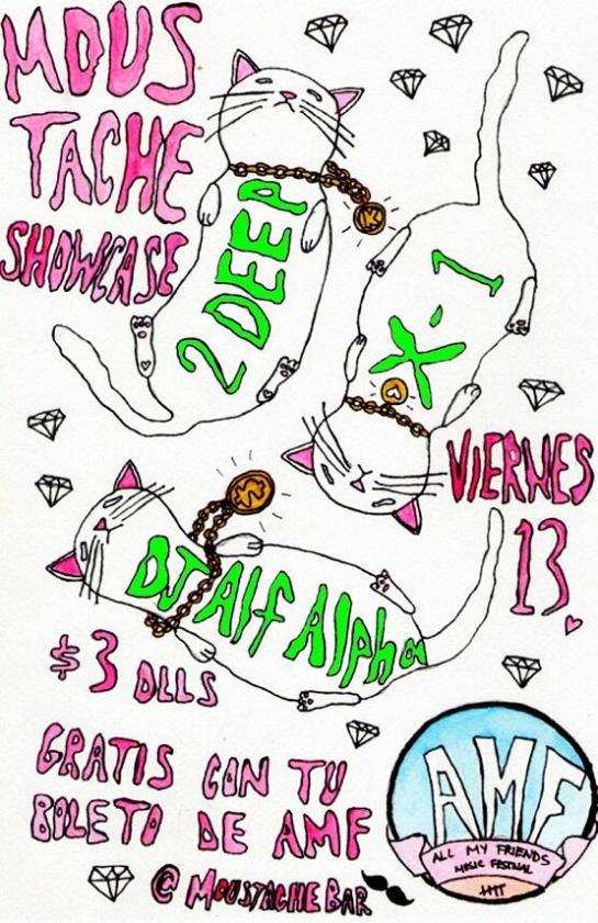 Moustache Bar Tijuana Bar Mexico with Alf Alpha - June 13, 2014