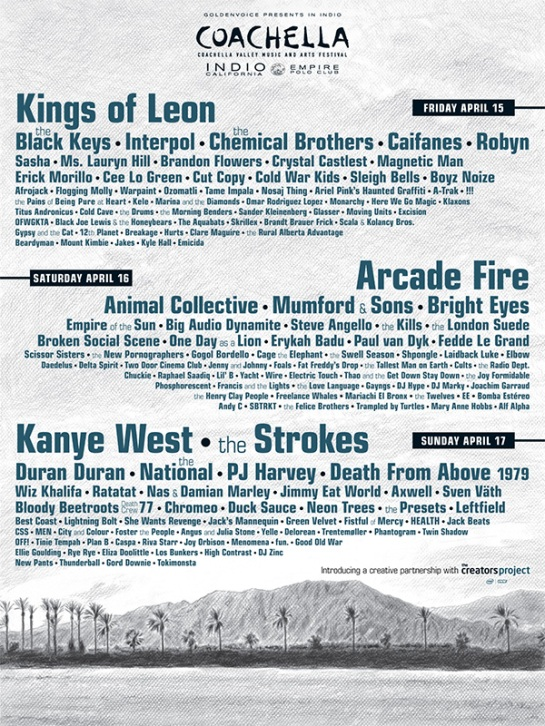 Coachella 2011 Line Up with Alf Alpha
