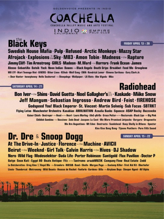 Coachella 2012 Line Up with Alf Alpha