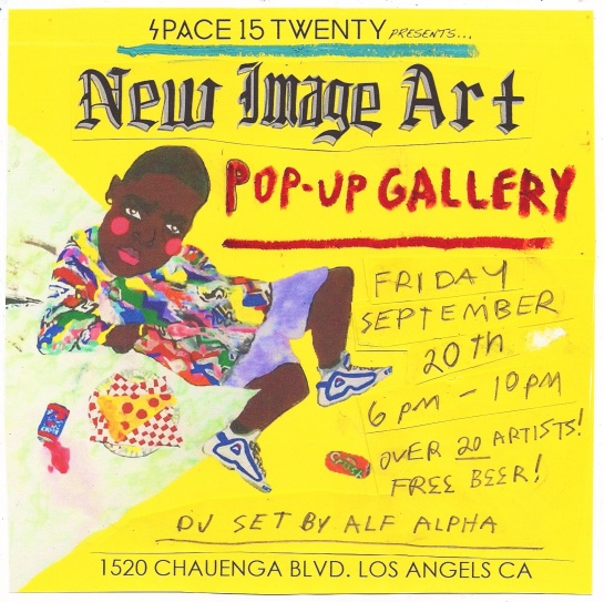 New Image Art Pop-Up Gallery  at Space15Twenty Hollywood Sept. 20th with DJ by Alf Alpha