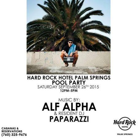 DJ Alf Alpha at Hard Rock Palm Springs
