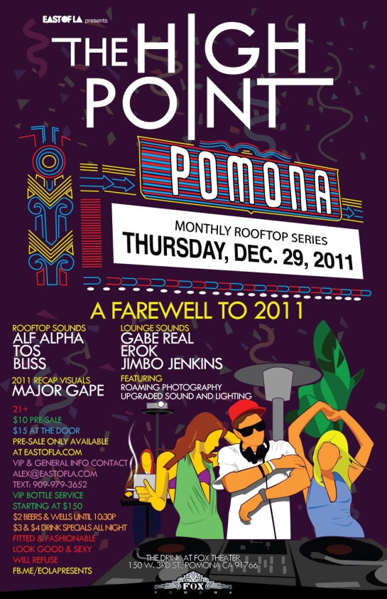 Alf Alpha - The High Point Pre New Year Eve Party at The Fox Theater Pomona CA East Of LA