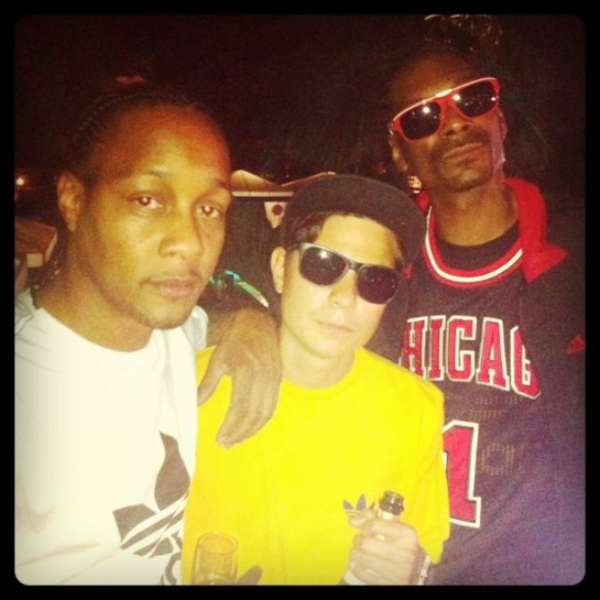 DJ Alf Alpha with Snoop Dogg and DJ Quik - 2011