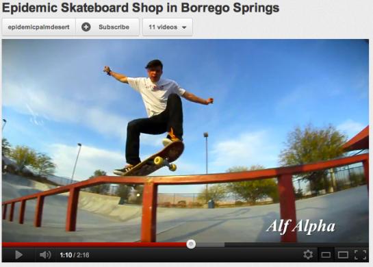 Alf Alpha at Borrego Springs Skate Park