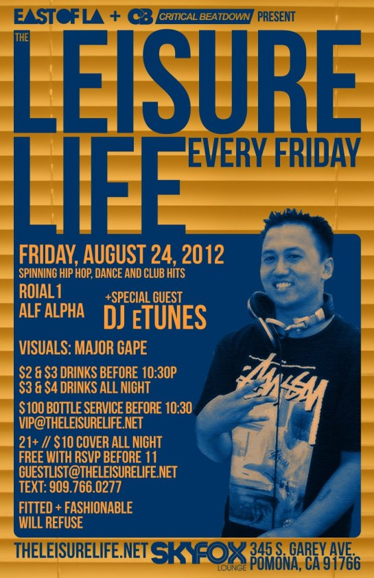The Leisure Life Weekly Party at The Sky Fox Bar Pomona