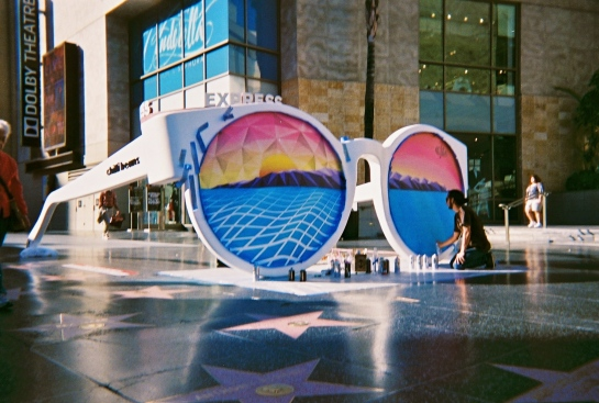 Painting Chili Beans Sunglasses with Coachella Valley Art Scene and Ancient Youth in Hollywood California