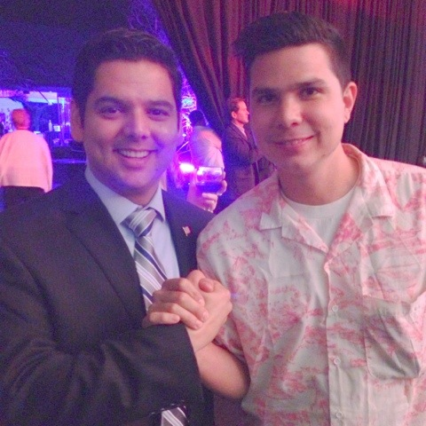 Congressman Raul Ruiz & Alf Alpha at Fashion Week El Paseo 2013