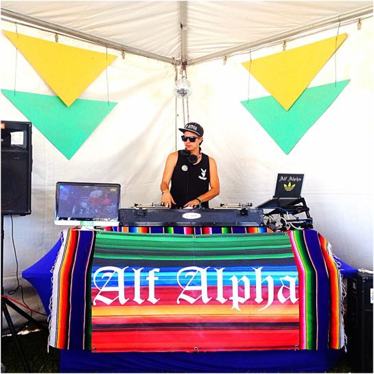 DJ Alf Alpha at FYF Craft FYF Tent 2013