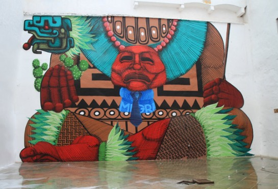 Huge installation by artist Nunca of Brazil at Hecho en Oaxaca