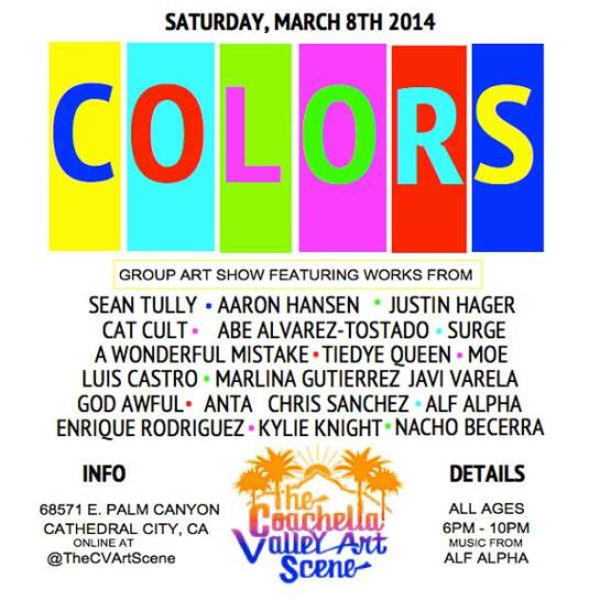 Colors Group Art Show at The Coachella Valley Art Scene Gallery