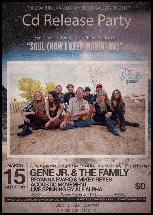 Gene Evaro Jr. Record release Party ay The Coachella Valley Art Scene