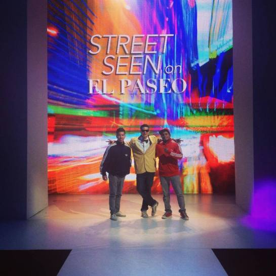 DJ Alf Alpha with BBoys from Squishy Docious Crew at Fashion Week El Paseo 2014