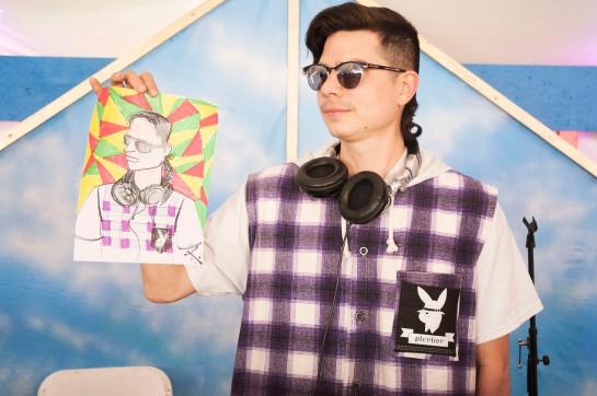 A Festival goer drew me during my DJ at Coachella Art Studios.