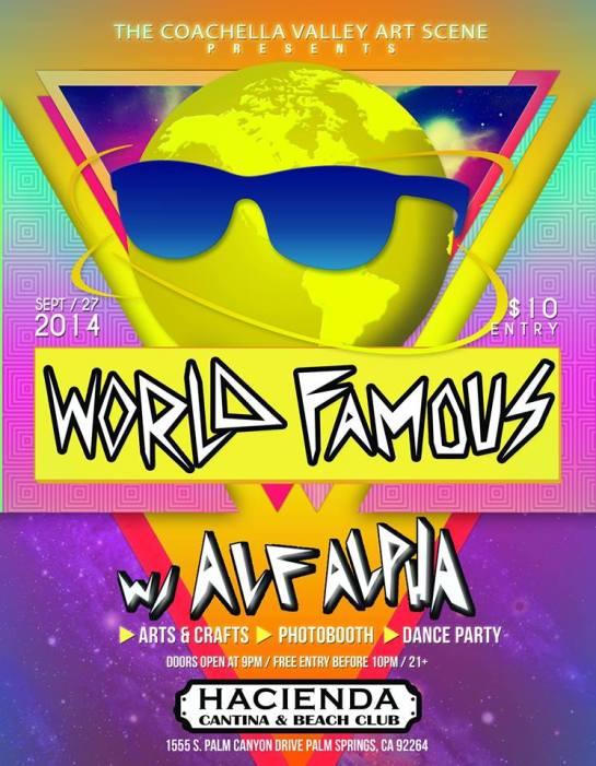 World Famous Party With Alf Alpha Sept 2014 Hacienda Beach Club Palm Springs
