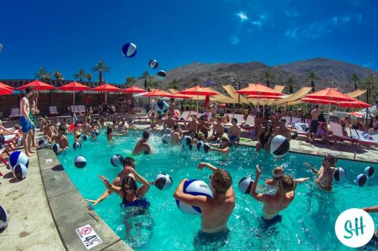 World Famous Pool Party with Alf Alpha and The Coachella Valley Art Scene at Hacienda Beach Club