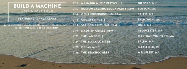 Build A Machine and Alf Alpha East Coast Tour 2015